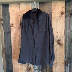 Black & Gray Button Up casual Style hoodie.